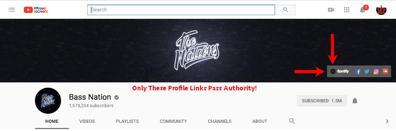 Get Backlinks, Pass Authority on Youtube